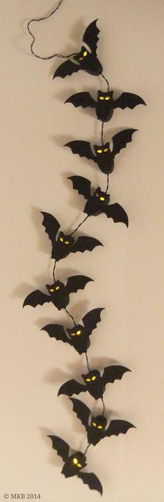 Fledermaus-Lichterkette