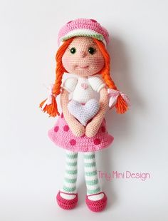 Strawberry Girl Costume Doll