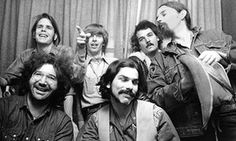 'I want to be concerned with things that are weird' ... Jerry Garcia (bottom left) of the Grateful Dead.