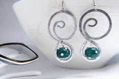 geometric earrings infinity  aluminium glass earrings by amabito, €18.00