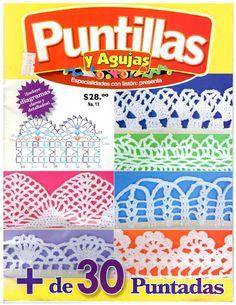 http://todopatronescrochetgratis.blogspot.com.ar/2016/03/de-30-puntadas-bordes-crochet-gratis.html  + DE 30 PUNTADAS BORDES A CROCHET GRATIS REVISTA