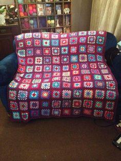 Granny square crochet blanket afghan number two!