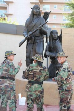 Heard Museum in Phoenix hosts the American Indian Veterans National Memorial. The memorial consists of several sculptures by acclaimed native artists.