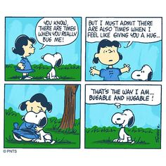 "PEANUTS on Twitter: ""Bugable and hugable!… """