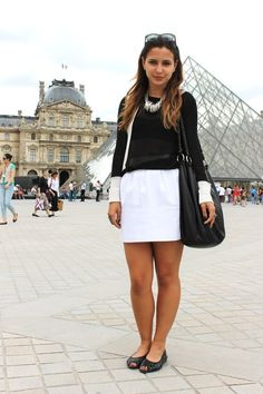 FASHION FROM ABROAD: Black And White Beauty