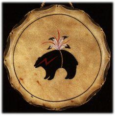 BEAR FETISH drum, Native American