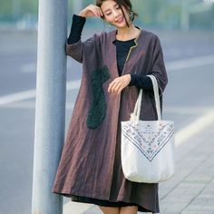 Casual Loose Autumn V Neck Coat