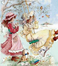 Hobby For College Students - Hobby Horse Udstyr - Winter Hobby DIY - Free Hobby Ideas - - Holly Hobbie, Hobbies For Kids, Hobbies To Try, Vintage Cards, Vintage Postcards, Sara Kay, Decoupage, Hobby Horse, Cute Illustration