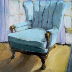 """Daily Paintworks - """"The Chair Challenge"""" - Original Fine Art for Sale - © Robin Rosenthal"""