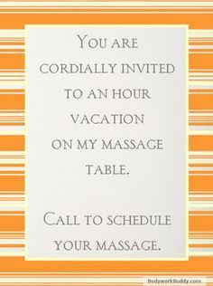 A massage is like taking a mini vacation. Call Tranquil Rhythms Massage for your hour of bliss. Enjoy your massage in the comfort of your home. Call Jim @ to book your session today! Inquire about our prices,discounts and specials! Spa Quotes, Massage Quotes, Massage Tips, Massage Benefits, Health Benefits, Massage Funny, Salon Quotes, Massage Therapy Rooms, Massage Pictures