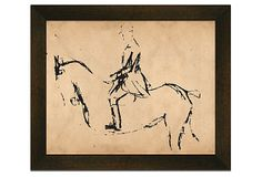 Draw a version of what I wanted similar to this and frame.  Richard Mishaan, Erikson Small Horses 1 on OneKingsLane.com