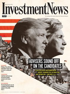In many cases, financial advisers feel more strongly about keeping a candidate out of the White House than voting one in.