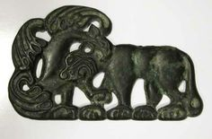 Bronze Buckle Plaque  Origin: Northern China Circa: 3 rd Century BC to 1 st Century BC