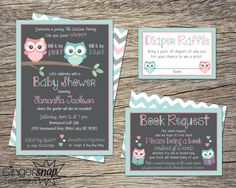 Owl Baby Shower Invitation Gender Reveal by GingersnapGreetings