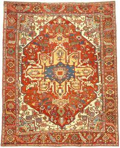 Persian Heriz Serapi rug, circa 1880
