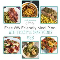 FREE WW FreeStyle Friendly Meal Plan - Uses 6 delicious dinner recipes from Meal Planning Mommies - printable grocery list included! Best Healthy Dinner Recipes, Diet Recipes, Vegetarian Recipes, Raspberry Chicken, Meal Plan Grocery List, Weight Watchers Meal Plans, Avocado, Recipe Builder, Low Carb Meal Plan