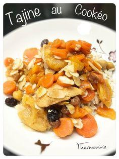 Tajine poulet abricots, recette au Cookéo