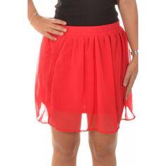 Fusta Dama VERO MODA Brave Plain Red Skater Skirt, Midi Skirt, Brave, Skirts, Red, Fashion, Moda, Midi Skirts, Skirt
