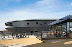 World Architecture Festival Awards 2013 shortlist announced - Mary Rose Museum / Wilkinson Eyre Architects / © Hufton+Crow -- Timber Architecture, Architecture Wallpaper, Beautiful Architecture, Museum Architecture, Contemporary Architecture, 2014 Civic, World Architecture Festival, Design Museum, Archaeology