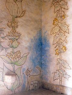 Jean Cocteau's resting place, Saint Blaise des Simples Chapel, which he decorated himself.