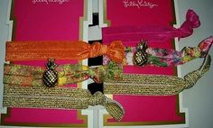 Lilly Pulitzer for Target Hair Ties Elastic Bands NWT Lilly Pineapple Charm 2015