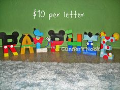 Mickey Mouse Clubhouse Character Letter Art