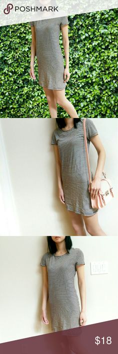 F21 T-shirt Dress NEW w/Tags! Black & Creme Striped Classic T-shirt dress! Super Soft & Comfy 100% Cotton. Fits true to size! Please feel free to ask questions! Make an Offer! Forever 21 Dresses
