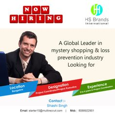 HS Brands International - India is seeking a candidate who:  • Possess the trait to get along well with people • Have a great work ethic • Carry good communication skills • Have the ability to learn quickly and on the fly • Possess smart trouble shooting skills  If you are the one! Then we will Hire YOU..