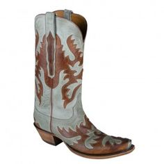Lucchese Ladies Mad Dog Boots - Sea Foam and Chocolate - OTHER LEATHERS - LADIES - BOOTS   Pinto Ranch