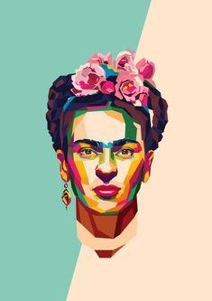 Geometric people frida kahlo i 2019 art, frida kahlo och kahlo paintings. Diego Rivera, Pop Art Portraits, Portrait Art, Fridah Kahlo, Frida Kahlo Portraits, Frida Kahlo Artwork, Kahlo Paintings, Frida Art, Atelier D Art