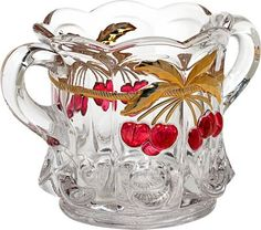 Heirloom-Quality Cherry Thumbprint Glassware, Made by Mosser in the USA