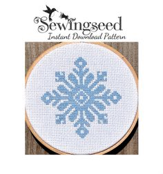 INSTANT+DOWNLOAD+Snowflake+Cross+Stitch+Pattern+by+Sewingseed,+$4.00
