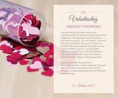 """VALENTINSTAG - KONFETTI POPPER! Lass die Herzen mit einer versteckten Liebesbotschaft für deinen Liebsten oder deine Liebste am Valentinstag regnen! Kannst du dich noch an das Eis ,,Ed von Schleck"""" erinnern?"""