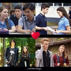 All couples in Nowhere boys Fellen Mia and Sam Jake and Saskia Andy and AU Ellen Nowhere Boys, Netflix Series, Stranger Things, Supernatural, Wolf, Fandoms, Fire, Earth, Couples