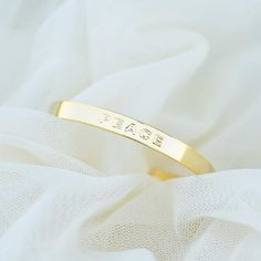 Majolie  - Peace Gold Bangle Bracelet -   - 1