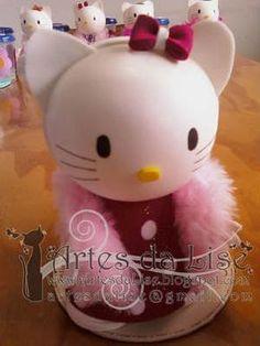 Como fazer fofucha Hello Kitty em EVA