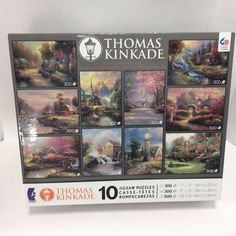 Thomas Kinkade Collector's Edition 10 New Jigsaw Puzzles Series II USA Unopened #SureLock