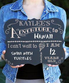 Look at this #zulilyfind! 'Adventure' Personalized Chalkboard Sign #zulilyfinds