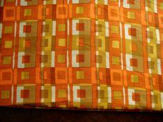 1960s Boris Kroll Mid Century  Designer Upholstery Linen Fabric Pattern Name Vega