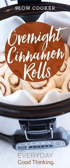 Slow Cooker Overnight Cinnamon Rolls