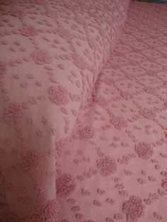 Vintage chenille bedspread.  Love the color.
