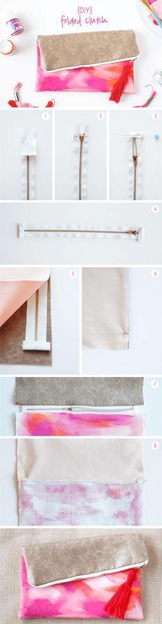 DIY Folded Clutch Tutorial