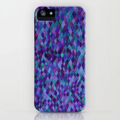 Watercolour Diamonds Plum iPhone Case by Amy Sia - $35.00