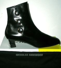 Ruthie Davis Black Leather Ankle Booties Size 10  $275.00. Fabulous ankle boots from Ruthie, we love these!