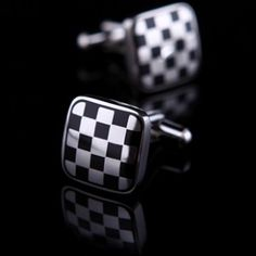 Black And White Polished Cufflinks