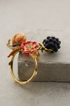 I love the snail! Les Nereides Elysian Fields Ring #anthrofave #anthropologie