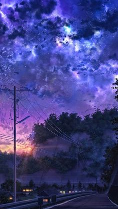 Phone Backgrounds 750060512925130283 - Silent Night – Source by Night Sky Wallpaper, Anime Wallpaper Live, Anime Scenery Wallpaper, Landscape Wallpaper, Mobile Wallpaper, Wallpaper Samsung, Purple Wallpaper, Trendy Wallpaper, Kawaii Wallpaper