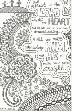 I should doodle zen-style around some Bible verses! This inspirational zentangle-inspired doodle is on Etsy, $1.50 by sasha