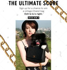 Nasty Gal, an online shopping site geared towards younger women, launched this sweepstake where the winner receives a vintage Chanel bag. The target market for this sales promotion includes existing Nasty Gal customers as well young women who like to shop vintage. This sweepstake is franchise-building since each candidate must enter his/her information to enter the sweepstake. This expand's Nasty Gal's customer database and allows them to create or maintain relationships with its clientele.