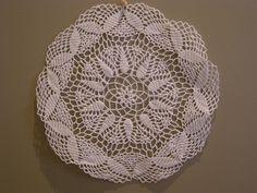 Hand Crocheted White Doillies
